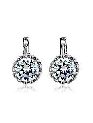 High Quality Alloy Platinum &18K Gold Plated With Crystal Earrings (More Colors)