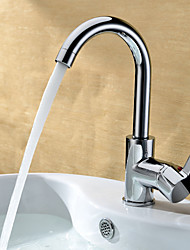 Chrome Finish Solid Brass Bathroom Sink Faucet