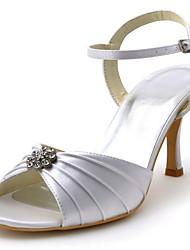 Women's Wedding Shoes Heels/Peep Toe Sandals Wedding Black/Blue/Yellow/Pink/Purple/Red/Ivory/White/Silver/Gold