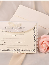Personalized Lovely Organza Bow Wedding Invitation--Set of 50