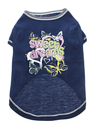 T-shirt - Chiens - Eté Bleu - en Coton - XXS / XS / S / M / L / XL / XXL / XXXL