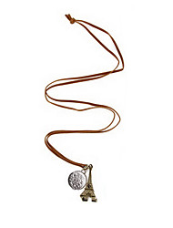 Франция Эйфелева башня монеты ювелирных изделий ретро цепь свитера N201