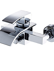 Contemporary Waterfall Brass Tub Faucet (Wall Mount)