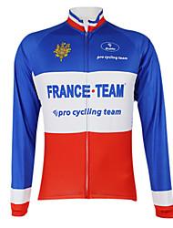 Чемпионат Франции Kooplus2013 Джерси 100% полиэфирных волокон Wicking Велоспорт Рубашка с отражающей лентой
