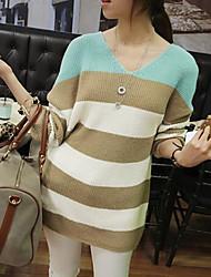 Women's Stripe Spicing Loose Sweater