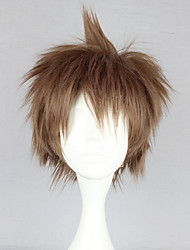 Cosplay Wigs Dangan Ronpa Cosplay Brown Short Anime/ Video Games Cosplay Wigs 30 CM Heat Resistant Fiber Female