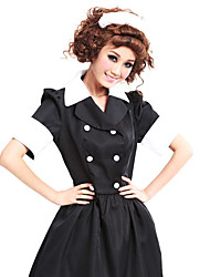 Fashionable Girl Black Cotton Blended ménage uniforme