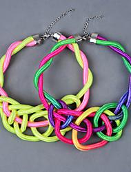 Стильный Этнический стиль Rope Knited Ожерелье