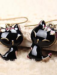 Women's Drop Earrings Cute Style Resin Alloy Animal Shape Cat Jewelry For Daily