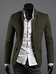 RR COMPRAR Men Olive Fique Suits Collar