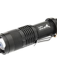 UltraFire 3-Mode CREE XP-E Q5 Zoom Lanterna com Clip (150LM, 1x14500/1xAA, Black)