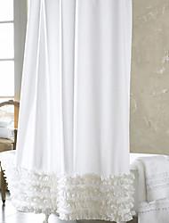 Style de polyester rideau de douche européenne