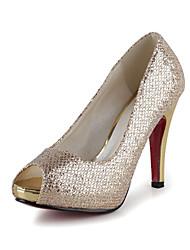 Bom gosto acender o brilho Peep Toe Platform Pumps Partido Shoes (mais cores)
