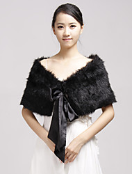 Fur Wraps / Wedding  Wraps Shrugs Faux Fur Black Party/Evening / Casual