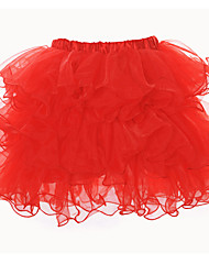 LuckyOne Women's Georgette Easy Matching Tutu Red