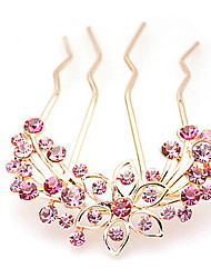 Women's Rhinestone Alloy Headpiece-Casual Hair Pin