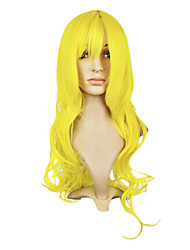 Capless Top Grade Synthetic Yellow Wavy Long Hair Wig