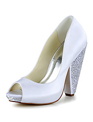 Tasteful Peep Toe Chunky Heel Pumps Wedding Shoes(More Colors)