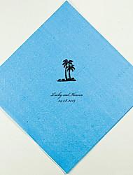 Mariage personnalisés Serviettes Palmiers (plus de couleurs)-ensemble de 100