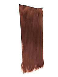 "20 ""Straight Hair Extensions mit Clips Dunkelbraun"