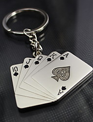 Plastique Alliage de zinc Porte-clée pour Invitée-4 Pièce / Set Porte-clés Thème de Las Vegas Personnalisé Argent