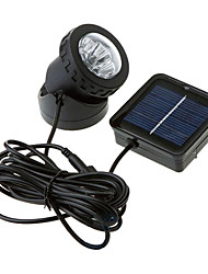 6-LED Waterproof White Light Solar Powered Spotlight Garden Outdoor Flood Lamp (CIS-57157)