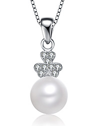Hanazo Women's 7-8mm Natural Pearl  Pendant Excl.Necklace PE0088W026270