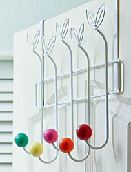 "18""Multicolor Hanging Rack Coat Hook(5 Hooks)"