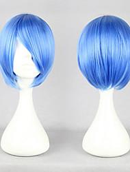 Neon Genesis Evangelion Rei Ayanami azul royal corto cosplay peluca