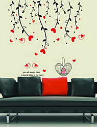 Botanical Flowers and Birds Wall Stickers