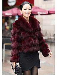manica scialle di pelliccia di volpe partito / giacca casual lungo (più colori)