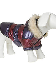 Dog Coat / Hoodie Red / Purple Winter Classic