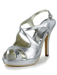 Faux Leather Wedding Stiletto Heel Sandals(More Colors)