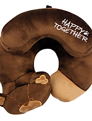 Qute Big Brown Bear U Shape Travel Pillow