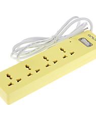 Socket Extension con 1,8 m de cable de alimentación de CA EE.UU. Amarillo