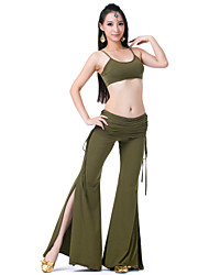 Belly Dance Outfits Women's Training Rayon 2 Pieces Sleeveless Top / Pants