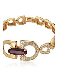 18K vrai or plaqué New Ruby Bracelet