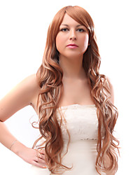 Capless Mixed Hair Long Mixed Color Wavy Hair Wigs