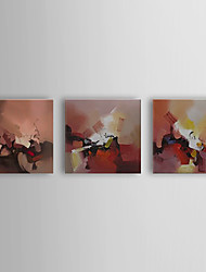 Hand Painted Oil Painting Abstract Clown with Stretched Frame Set of 3 1310-AB1203
