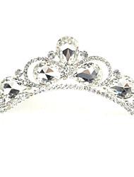 Luxo Tiaras liga com Big Rhinestone para o casamento / ocasião especial
