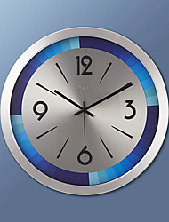 "17""H Modern Metal Wall Clock"