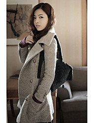 Women's Coats & Jackets , Wool Blend Casual ANQJ