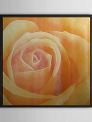 Oranje nam bloemen ingelijst olieverfschilderij