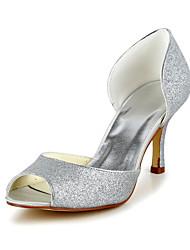 acender o brilho casamento ocasião stiletto bombas e peep toe sandálias e saltos (mais cores)
