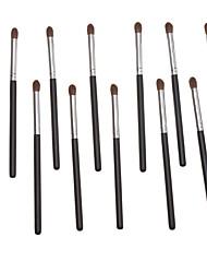 12PCS Black Handle Brown Brush Small Eyeshadow Brush