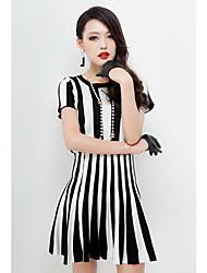 Stripe manches courtes HERA Femmes Tricot habit