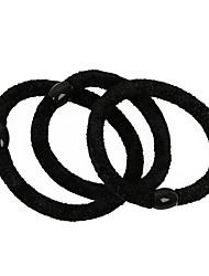 3 Super-elastic Seamless Black Hair Bands