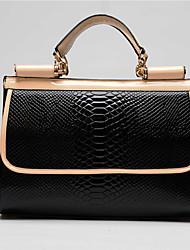 Lady High Quality PU Leather Tote(Black)