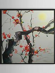 Wintersweet florale encadrée peinture à l'huile
