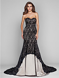 TS Couture® Formal Evening / Military Ball Dress - Vintage Inspired Plus Size / Petite Trumpet / Mermaid Sweetheart Sweep / Brush Train Lace / Tulle
